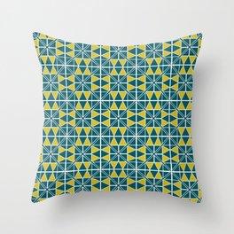 Emerald Glow Pattern Throw Pillow