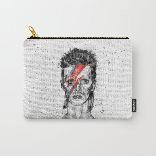 Bowie Inspired David in BW Carry-All Pouch
