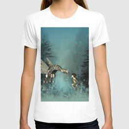 Cute fairy with steam dragon T-shirt