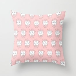 Pink yet still Hardy Throw Pillow