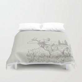 Lodge series - Deer (cream) Duvet Cover