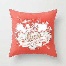 Love is in the air Throw Pillow