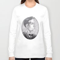 alex turner Long Sleeve T-shirts featuring Alex Turner Drawing by annelise johnson