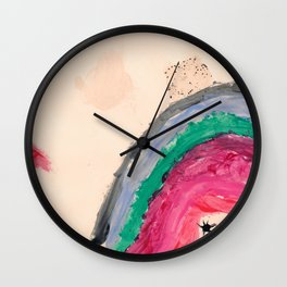 Happy Girl Nail Polish Wall Clock