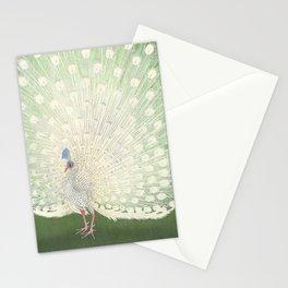 Peacock, Ohara Koson - Japanese Woodcut Stationery Cards