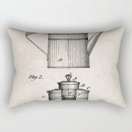 Coffee Patent - Coffee Shop Art - Antique Rectangular Pillow