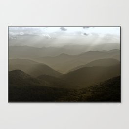 Caught in a mood... Canvas Print
