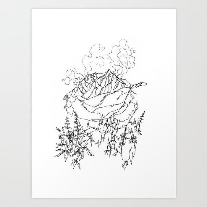 Lupine Time :: Single Line Kunstdrucke