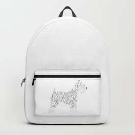 Miniature Schnauzer Wall Art Schnauzer Portrait Backpack