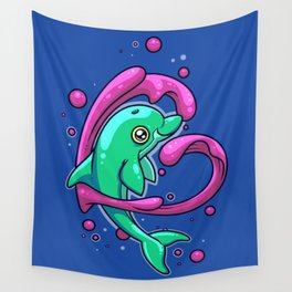 Dolphin Love Wall Tapestry