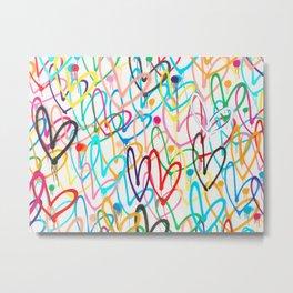 Hearts All A Flutter Metal Print