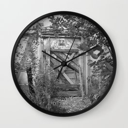 """Door to the deep down """"LIME"""" Wall Clock"""