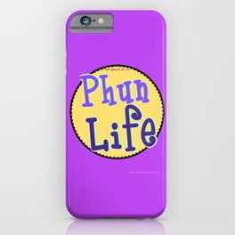 Fun Life Darker Purple iPhone Case