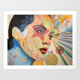 Abstract Art Female Women Portrait Painting ...Honestly Speaking Art Print