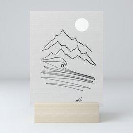 White moon Mini Art Print