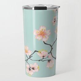 Sakura Cherry Blossoms x Mint Green Travel Mug