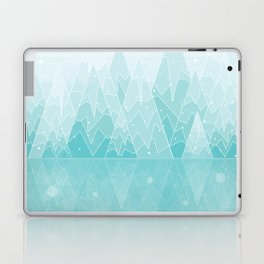 Geometric Lake Mountain IV - Winter Laptop & iPad Skin