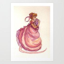 Mousie Mama & Baby Art Print