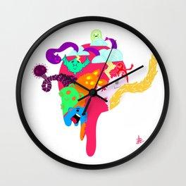 Monster Hole Wall Clock