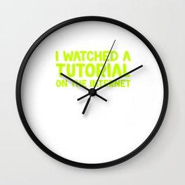 Awesome Expert Tshirt Design I'm an expert Wall Clock