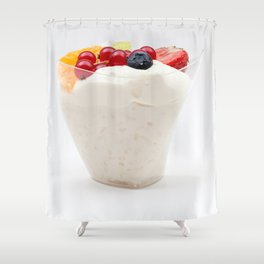rice pudding from fruit Shower Curtain