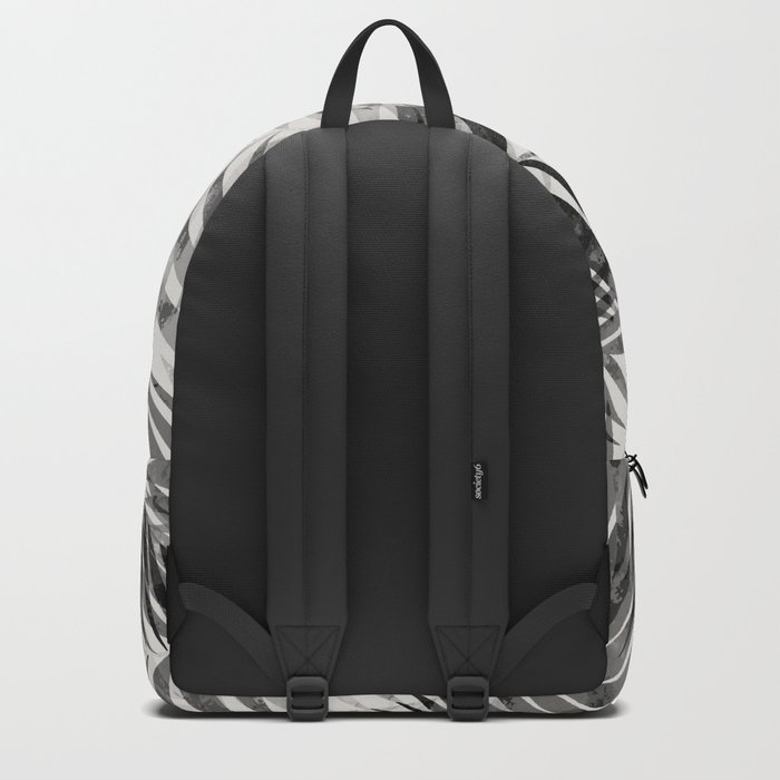 Palm Leaves - Black & White Backpack