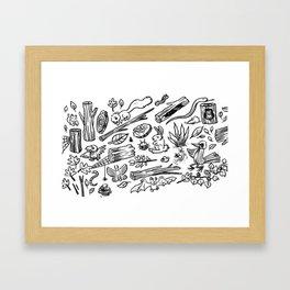 Woodland Spread Framed Art Print