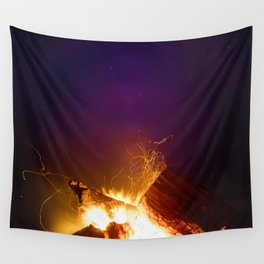 The Fire Sunset (Color) Wall Tapestry