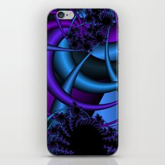 purple and blue fractal iPhone & iPod Skin