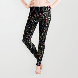 The meadows colorful floral pattern Leggings