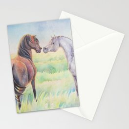 Horse Greeting In Wildflower Meadow Stationery Cards