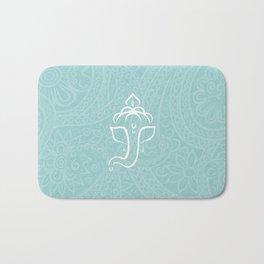 Blue Ganesh - Hindu Elephant Deity Bath Mat