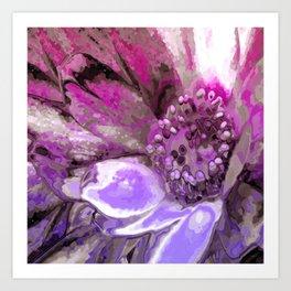 In Sunlight, Petunia Reflections Art Print