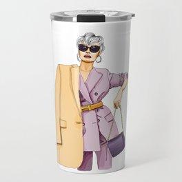 Lady in town Travel Mug