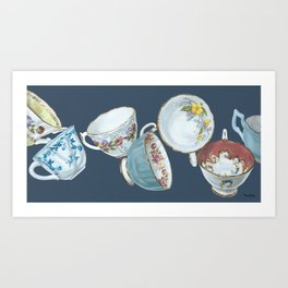 Dancing Queens in Navy Art Print