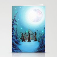 coven Stationery Cards featuring Witch Coven by Annya Kai