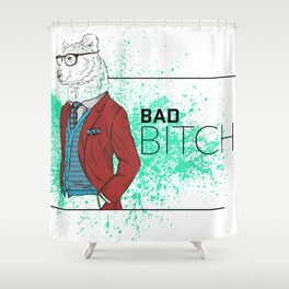 Bad News Bear Shower Curtain