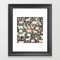 Cucumber Forest Framed Art Print