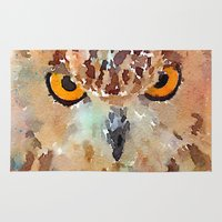 owl Area & Throw Rugs featuring Owl by contemporary