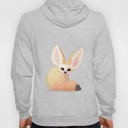 cute fennec foxes. Vector graphic character Hoody