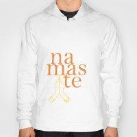 namaste Hoodies featuring namaste by yogivette