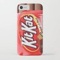 kit king iPhone & iPod Cases featuring Kit Kat by niklasedlund