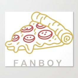 Fanboy - gold Canvas Print