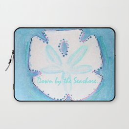 Sand Dollar Blue Laptop Sleeve