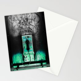 yurk phone green Stationery Cards