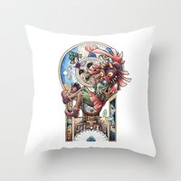 majora Throw Pillows featuring The song of Majora by Alejandra Vindas