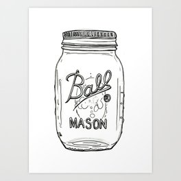 Ball Jar Art Print