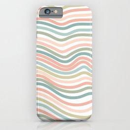 Pastel wave pattern home decor iPhone Case