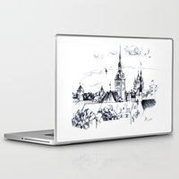 medieval Laptop & iPad Skins featuring Medieval landscape. by LaDa