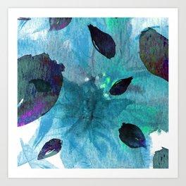 Watercolor Teal Mirage Art Print